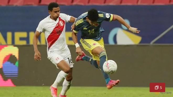 Colombia chiến thắng nghẹt thở Peru ở trận tranh hạng ba Copa America - 1