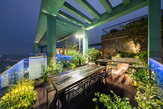 Vợ chồng chi tiền tỷ làm sân vườn, hồ cá Koi ở căn penthouse tầng 30 - 4