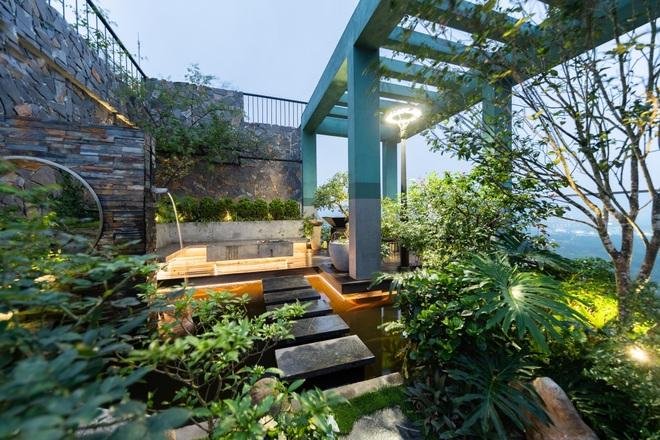 Vợ chồng chi tiền tỷ làm sân vườn, hồ cá Koi ở căn penthouse tầng 30 - 8