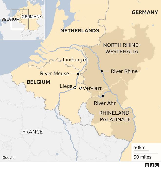 Hơn 120 người chết do mưa lũ như sóng thần ở châu Âu - 7