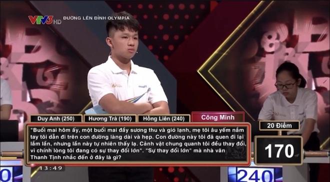 Nam sinh Quảng Ngãi lội ngược dòng khó tin, vô địch thi tháng Olympia - 1