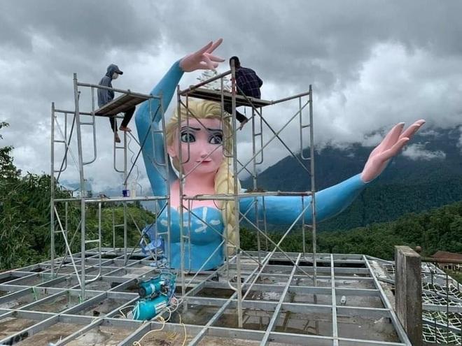Tạm dừng hoạt động cơ sở đặt bức tượng Nữ hoàng băng giá ở Sa Pa - 2