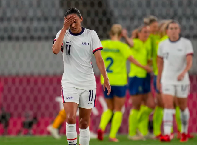 Đội tuyển nữ Mỹ thua sốc Thụy Điển, chủ nhà Nhật Bản bị cầm hòa tại Olympic - 2