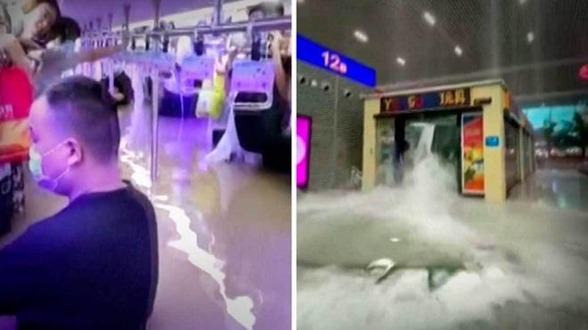 Lời cầu cứu từ trong toa tàu bị lũ nhấn chìm ở Trung Quốc - 1