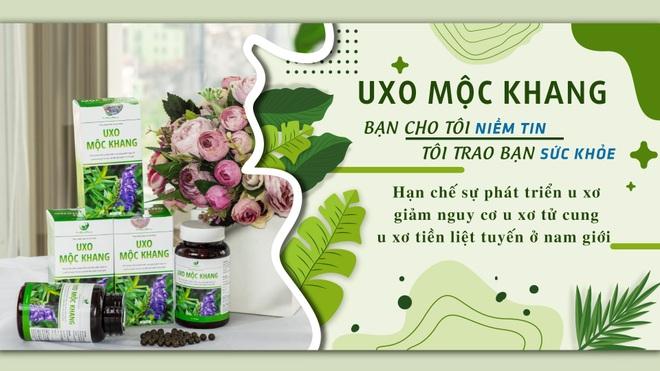 UXo Mộc Khang - hỗ trợ hạn chế sự phát triển u xơ, u nang - 2