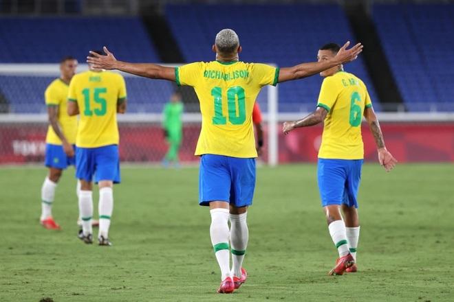 Richarlison lập hat-trick, Olympic Brazil đè bẹp Olympic Đức - 1