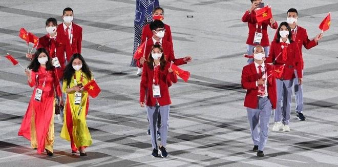 Đoàn Thể thao Việt Nam diễu hành tại Olympic Tokyo - 3