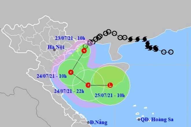 Áp thấp nhiệt đới vào Vịnh Bắc Bộ, gây mưa rất lớn ở nhiều tỉnh phía Bắc - 1