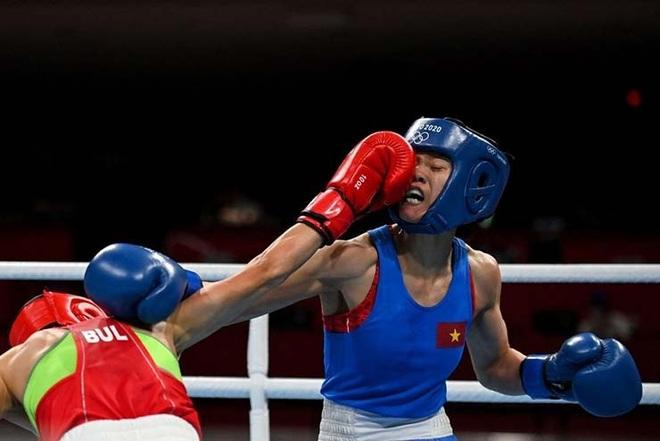 Võ sĩ boxing Nguyễn Thị Tâm thua tiếc nuối ở Olympic Tokyo - 1