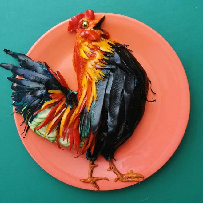 Nổi tiếng nhờ vẽ tranh nghệ thuật bằng… thức ăn - 2