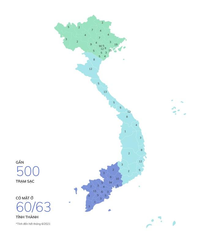 Hơn 8.100 cổng sạc ô tô, xe máy điện VinFast đã được lắp đặt tại 60 tỉnh thành - 1