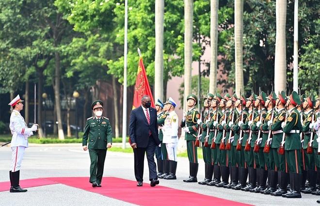 Bộ trưởng Phan Văn Giang đón, hội đàm với Bộ trưởng Quốc phòng Mỹ - 1