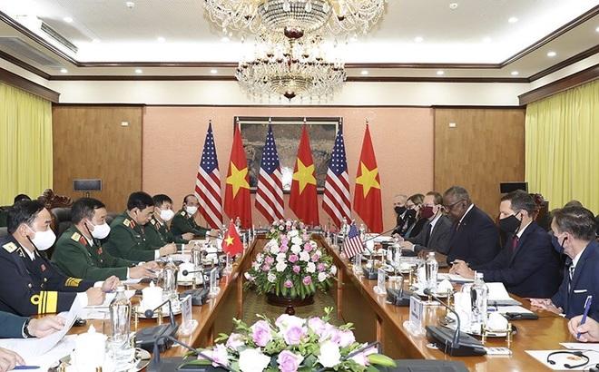 Bộ trưởng Phan Văn Giang đón, hội đàm với Bộ trưởng Quốc phòng Mỹ - 2