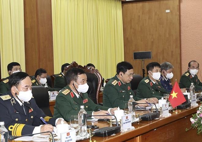 Bộ trưởng Phan Văn Giang đón, hội đàm với Bộ trưởng Quốc phòng Mỹ - 3
