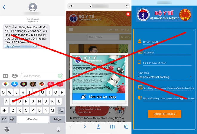 Xuất hiện trang web giả mạo Bộ Y tế, lừa đảo đăng ký trợ cấp Covid-19 - 1