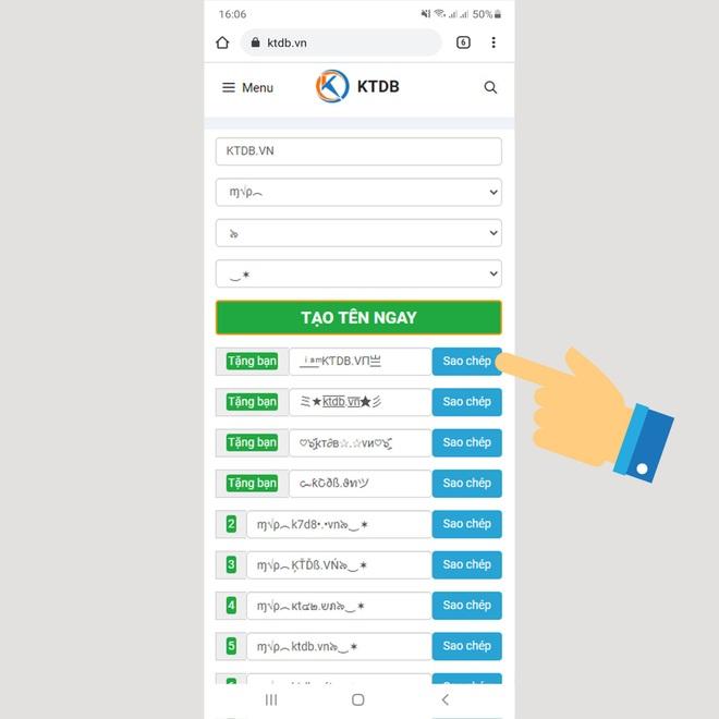 KTDB.VN - ứng dụng tạo kí tự đặc biệt dành cho game thủ - 2