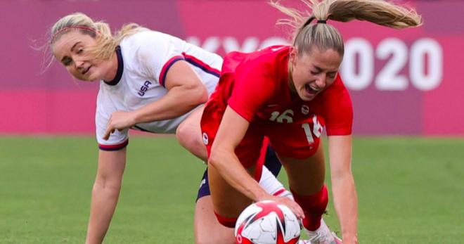 Loại đội tuyển nữ Mỹ, Canada vào chung kết Olympic gặp Thụy Điển - 1