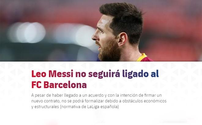 Messi tạo cú sốc cực lớn, chính thức rời khỏi Barcelona - 2