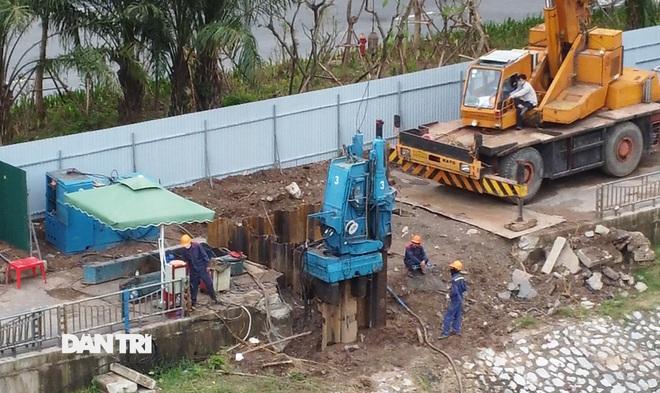 Đánh chuyển hơn 700 cây xanh dọc sông Tô Lịch để làm dự án thoát nước thải - 8