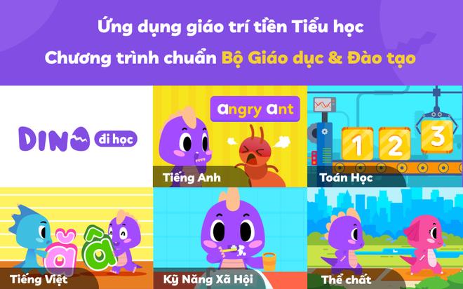Giải pháp giáo dục cho trẻ - Gói gọn trong ứng dụng DINO đi học - 1