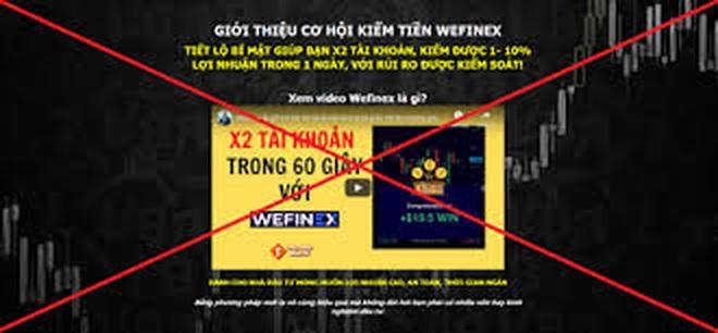 Không tham gia đầu tư vào các website Wefinex.net, RaidenBo.com - 1