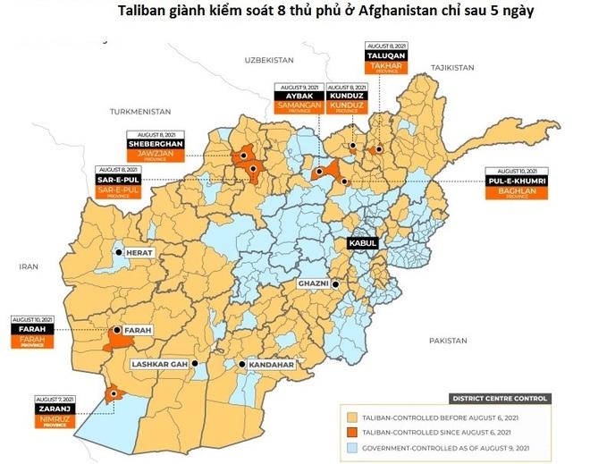 Taliban kiểm soát 65% lãnh thổ Afghanistan, Mỹ nói Afghanistan phải tự lo - 2