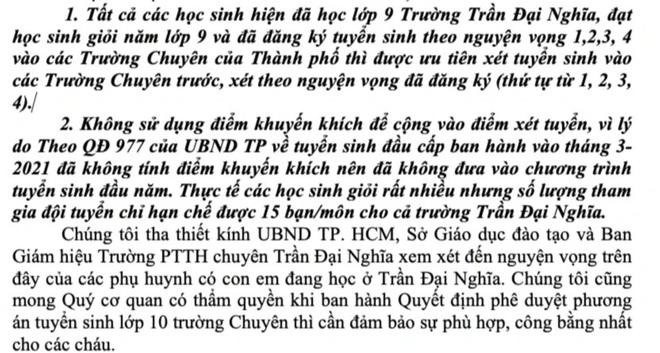Học sinh Trường chuyên Trần Đại Nghĩa lo.... rớt lớp 10 - 4