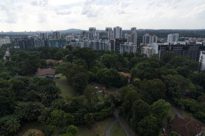 Giá nhà ở Singapore đã tăng kỷ lục 4,1% trong 6 tháng đầu năm khi các ông trùm khắp châu Á đổ xô tìm kiếm chỗ trú ẩn an toàn (Ảnh: Bloomberg).