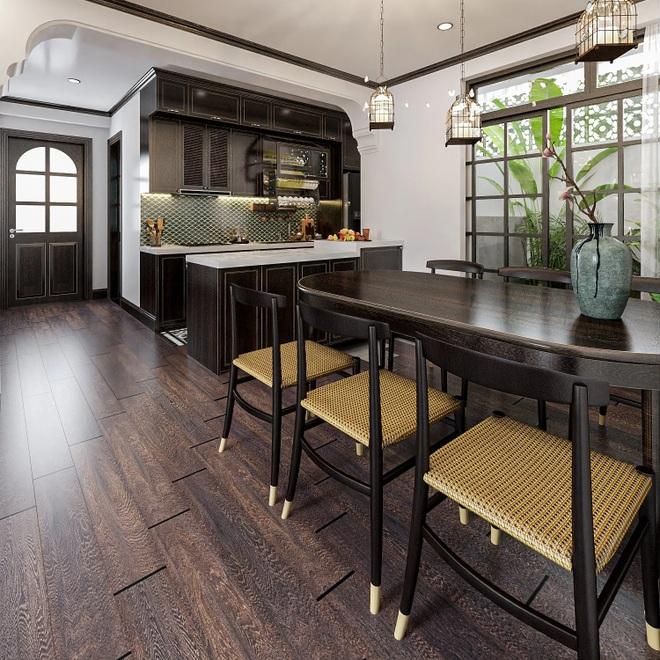 Chất liệu tre, nứa, gỗ sồi giúp căn nhà mềm mại hơn những mảng bê tông khô cứng.