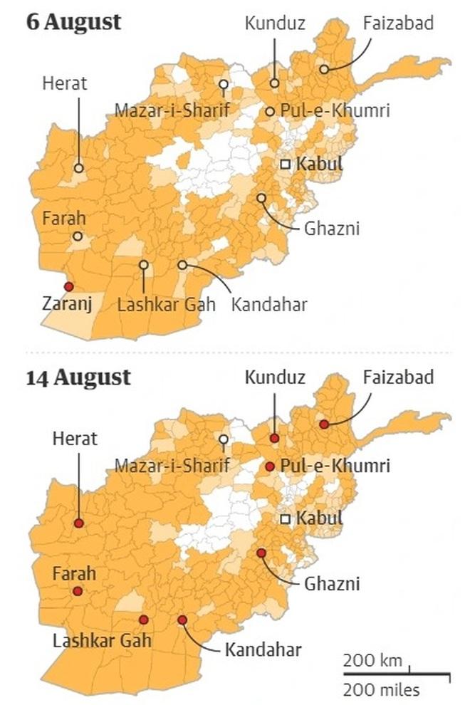 Taliban chiếm thêm thành trì quan trọng, siết chặt vòng vây quanh Kabul - 2