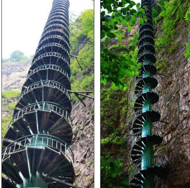 Cầu thang xoắn ốc cao 88 m không dành cho người yếu tim - 2