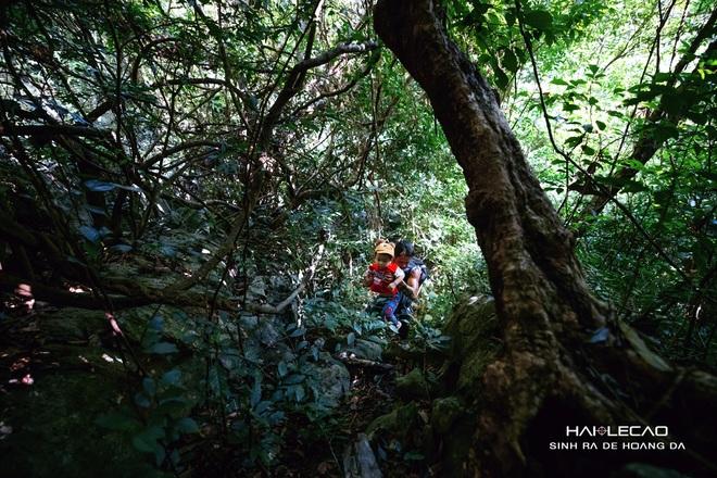 Cậu bé 22 tháng tuổi cùng bố băng rừng chinh phục hang động ở đảo Cát Bà - 3