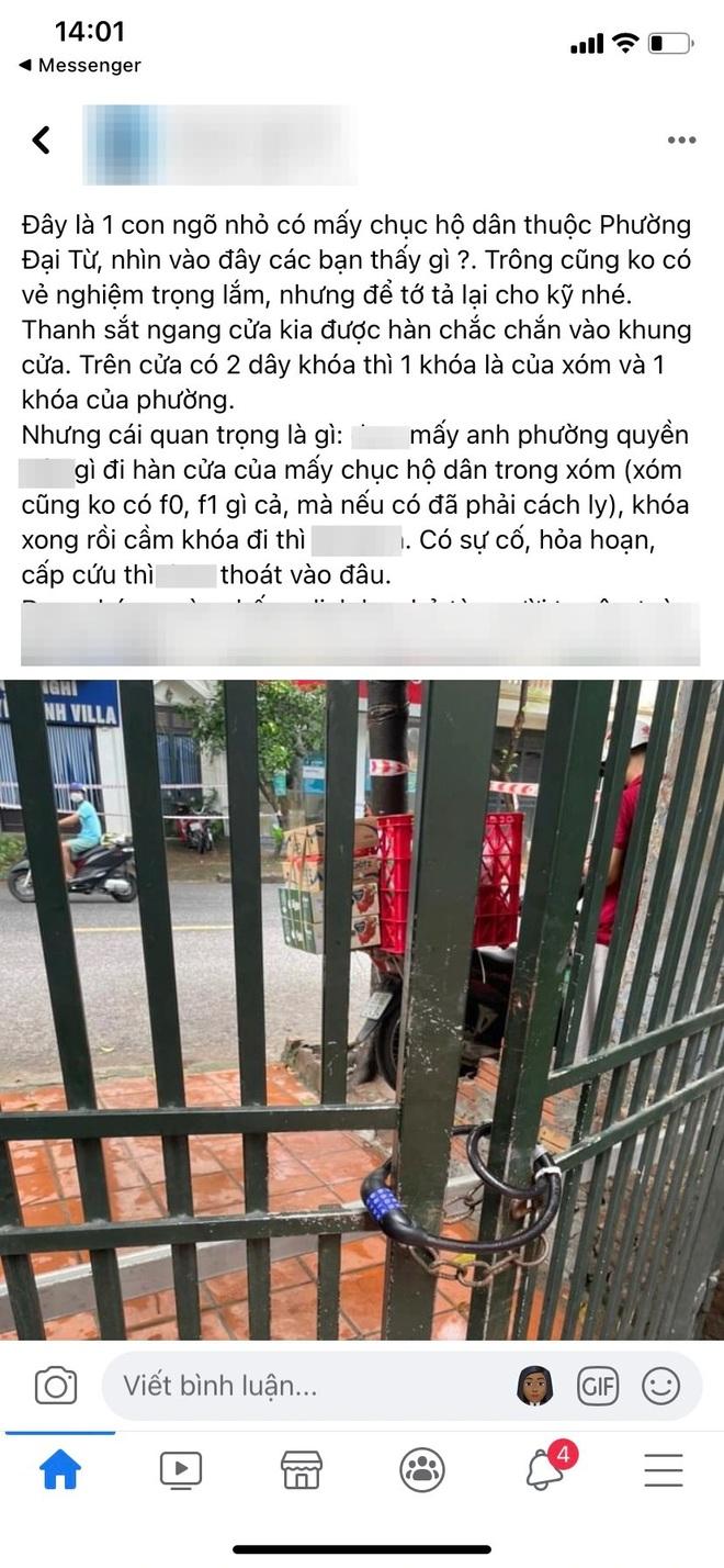 Hà Nội: Ngõ hơn chục hộ dân bất ngờ bị khóa trái mà không thông báo? - 2