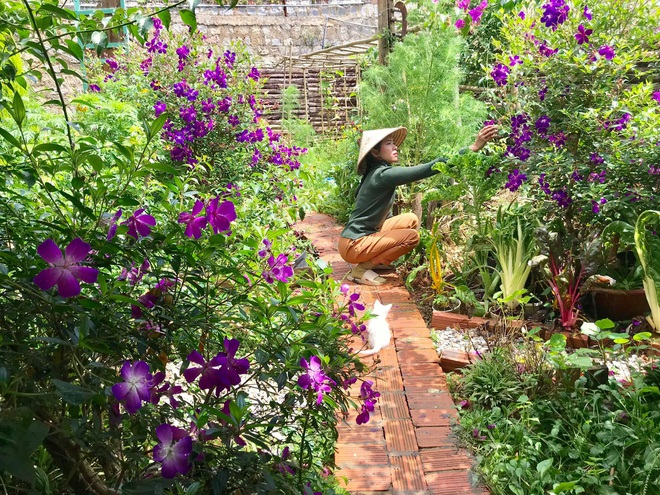 The simple life of ten thousand people dreams of a girl who builds a wooden house and grows vegetables in Da Lat - 11
