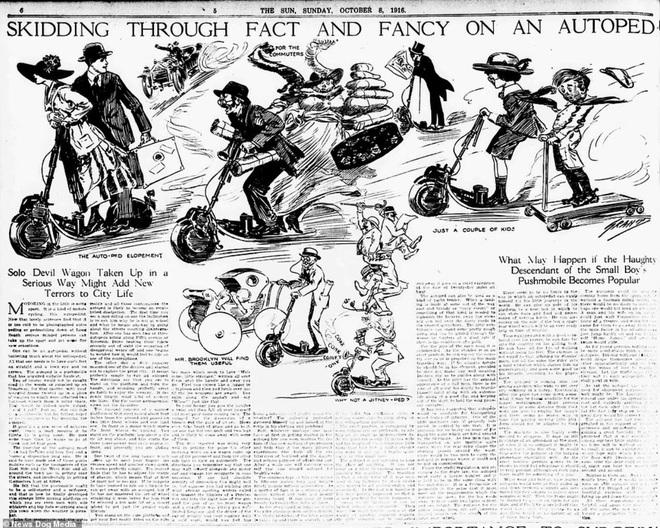 Bất ngờ với hình ảnh scooter chạy trên đường phố từ cách đây hơn một thế kỷ - 5