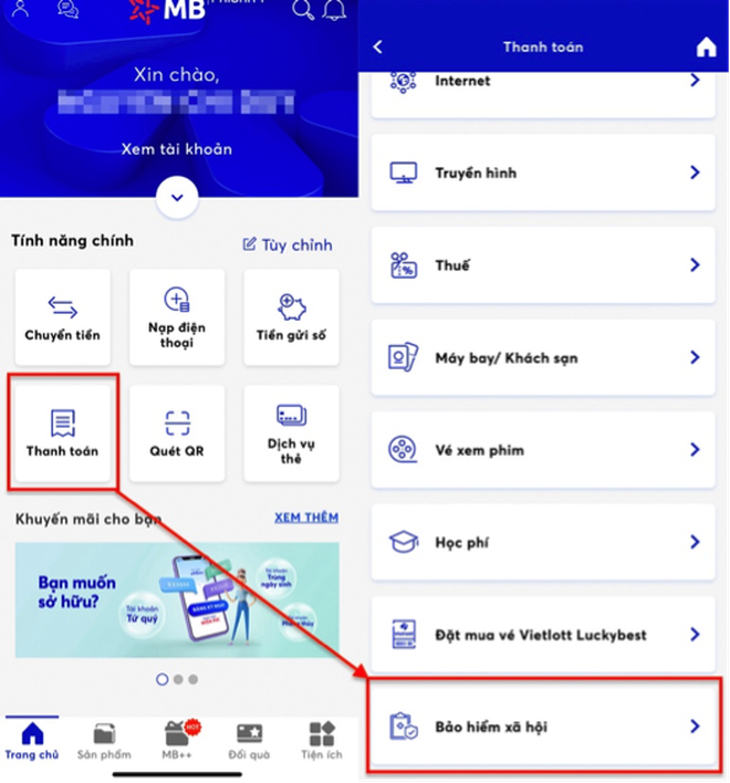 Đóng tiếp BHXH tự nguyện, gia hạn thẻ BHYT qua ứng dụng trực tuyến - 3
