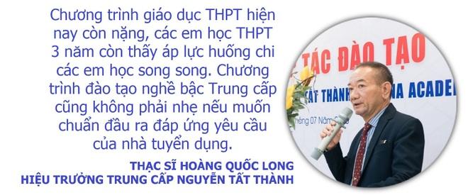Theo Hiệu trưởng Trung cấp Nguyễn Tất Thành, không phải học sinh trường nghề nào cũng theo nổi chương trình song song, nên cần có nhiều hướng cho các em lựa chọn.