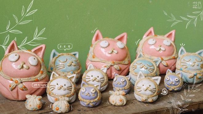 Vợ chồng trẻ đam mê sáng tạo sản phẩm gốm lấy cảm hứng từ những chú mèo - 1