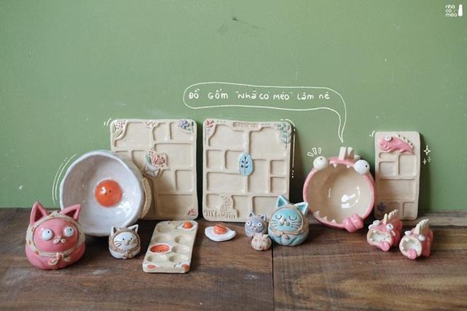 Vợ chồng trẻ đam mê sáng tạo sản phẩm gốm lấy cảm hứng từ những chú mèo - 4