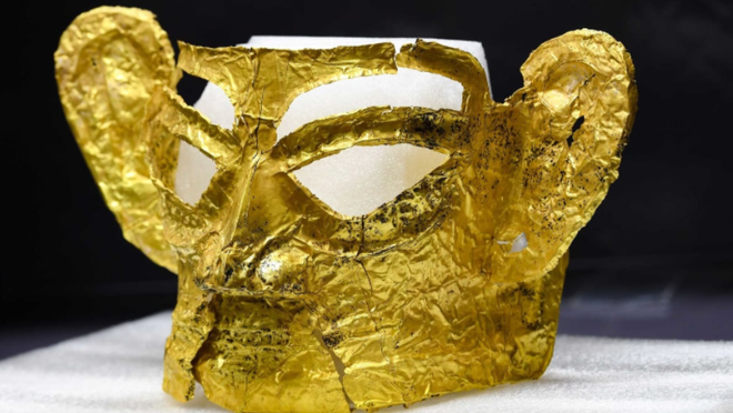 Tìm thấy mặt nạ vàng 3.000 năm tuổi ở Trung Quốc - 1