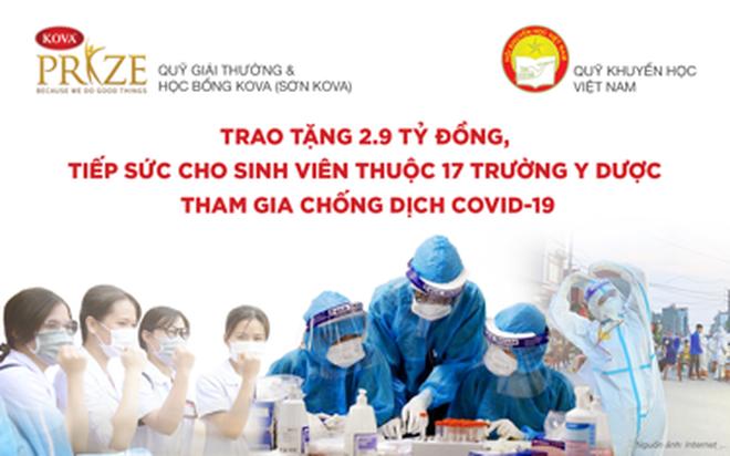 Trao tặng gần 3 tỉ đồng tiếp sức sinh viên Y dược chống dịch Covid-19 - 1