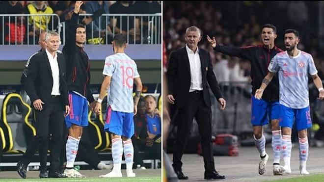 C.Ronaldo ra đường piste chỉ đạo cầu thủ Man Utd như… HLV trưởng - 2