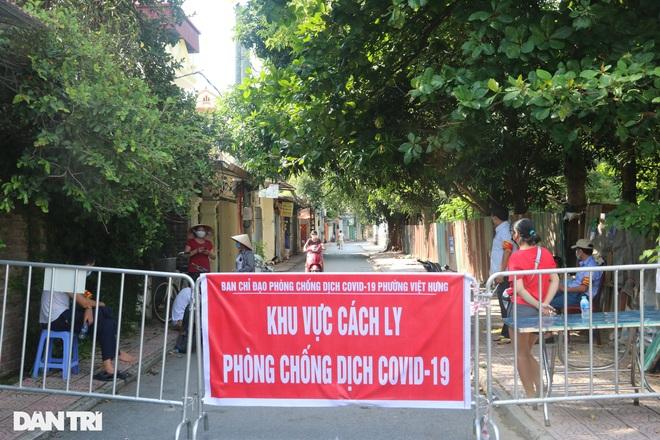 Cận cảnh khu vực phong tỏa ổ dịch có 6 ca F0 trong một gia đình ở Hà Nội - 10