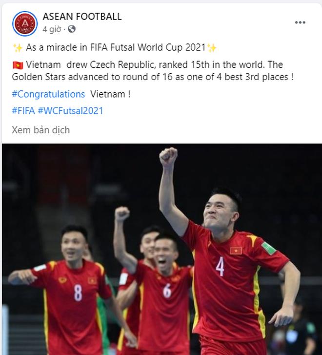 CĐV Đông Nam Á thán phục chiến tích của futsal Việt Nam ở World Cup - 1