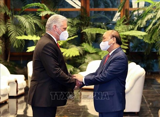Chủ tịch Cuba chủ trì Lễ đón Chủ tịch nước Nguyễn Xuân Phúc - 1