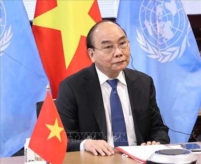 Chủ tịch nước Nguyễn Xuân Phúc dự họp bàn về chấm dứt đại dịch Covid-19 - 1