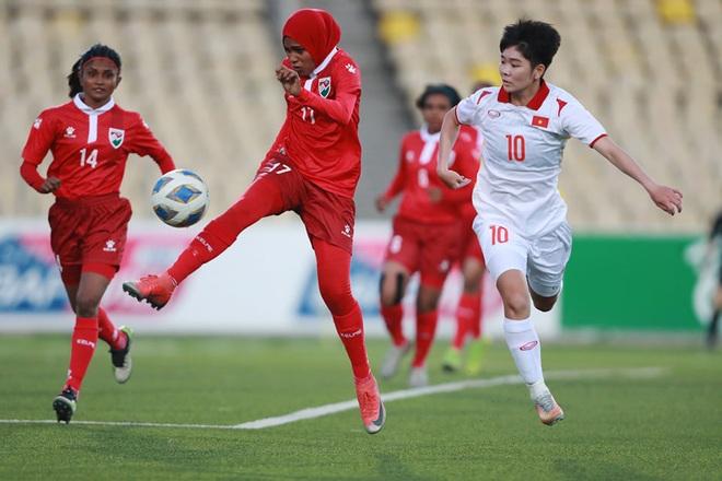 Đội tuyển nữ Việt Nam thắng đậm đối thủ 16-0 ở vòng loại châu Á - 3