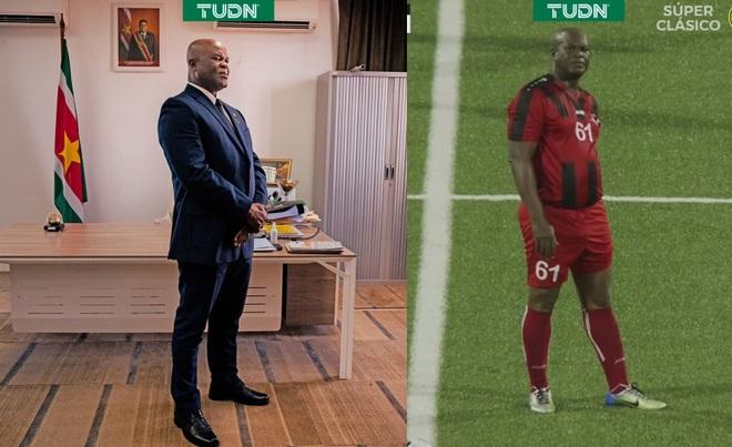Phó tổng thống Suriname trở thành cầu thủ chuyên nghiệp ở tuổi… 60 - 1