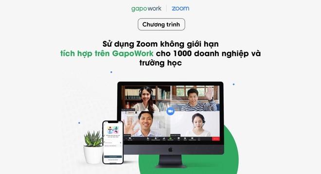 Chương trình sử dụng Zoom không giới hạn tích hợp trên GapoWork - 1