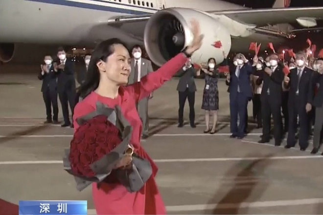 Trung Quốc trải thảm đỏ đón bà Mạnh Vãn Chu hồi hương - 2
